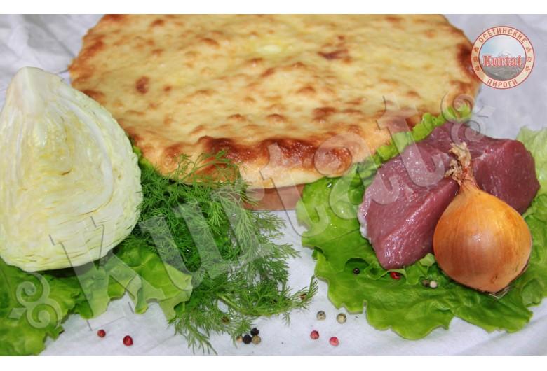Пирог капустный с мясом