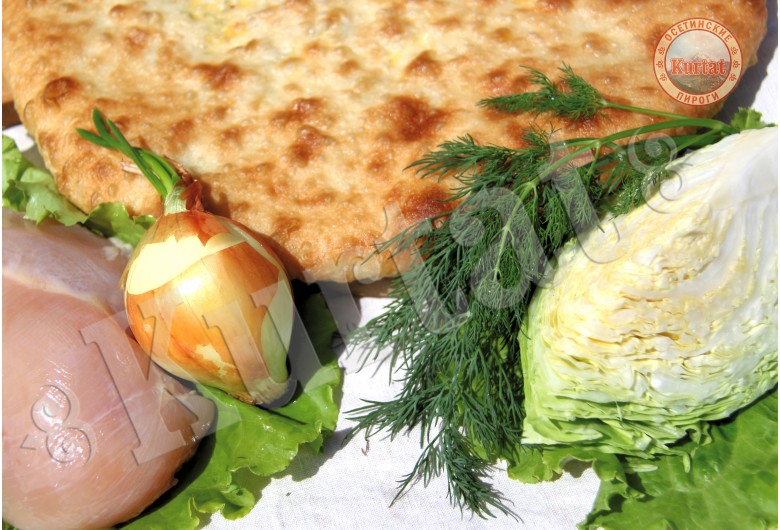 Пирог капустный с курицей
