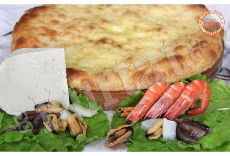 Пирог с морепродуктами