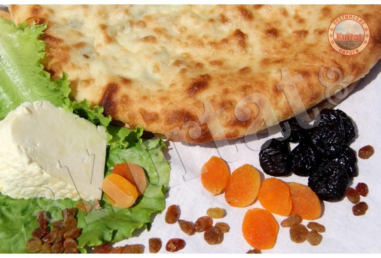 Пирог сырно-фруктовый